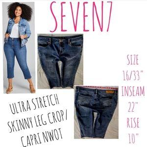 Seven7 Jeans Size 16 Skinny Leg Crop
